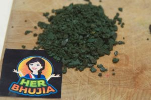 Her bhujia spirulina snack from india - a Review from Spirulina Academy